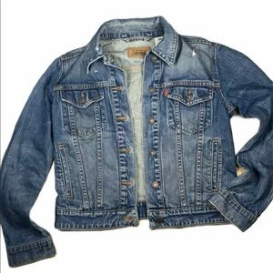 Levis Denim Jacket Light Wash Jean Jacket Small